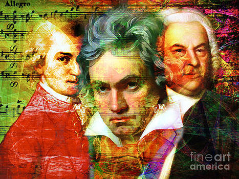 Mozart Beethoven Bach 20140128 by Wingsdomain Art and Photography