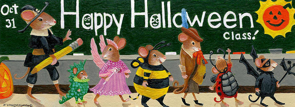 Mr. Mouse's Halloween Costume Parade by Jacquelin Vanderwood
