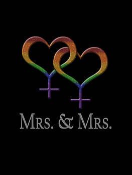 Mrs. and Mrs. Lesbian Pride  by Tavia Starfire
