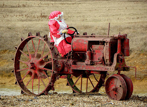 Mrs Claus Going Country by Kim Galluzzo Wozniak