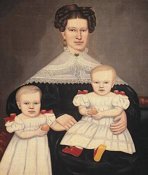 Mrs Palmer and Her Twins by Erastus  S  Field