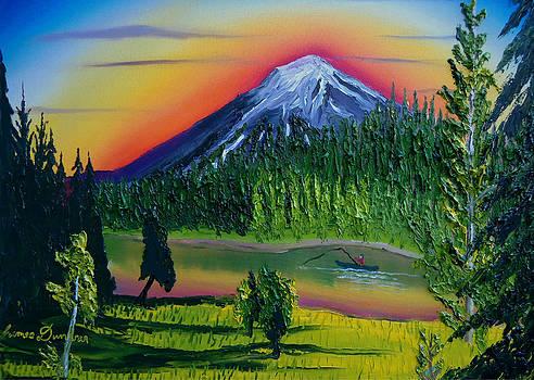 Mt. Bachelor At Dusk Bend Oregon by Portland Art Creations