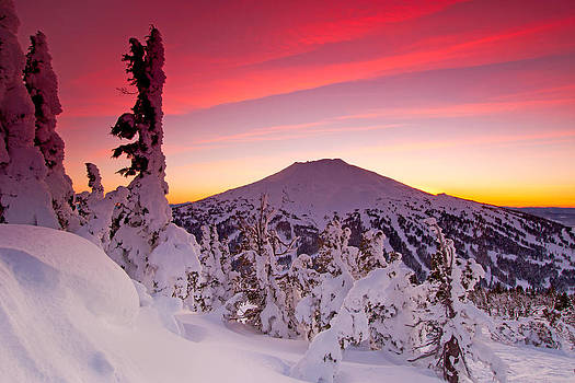 Mt. Bachelor Winter Twilight by Kevin Desrosiers