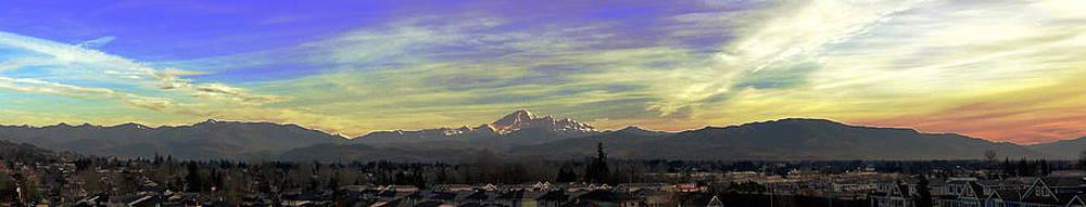 Nicki Bennett - Mt Baker Panoramic Sunset