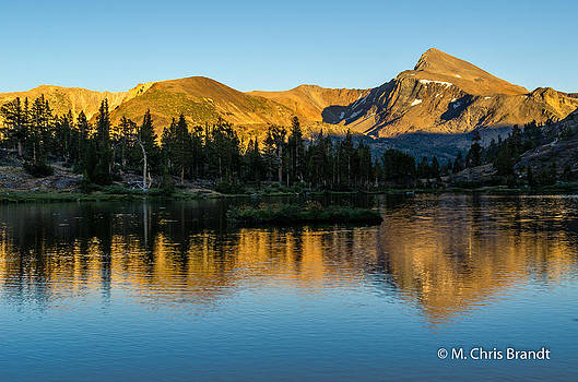 Mt Dana in Fantail Lake by M Chris Brandt