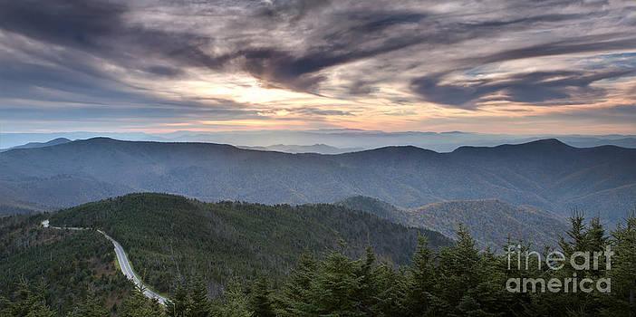 Mt Mitchell Sunset Blue Ridge Parkway by Dustin K Ryan