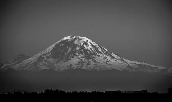 Ronda Broatch - Mt. Rainier Floats above Seattle