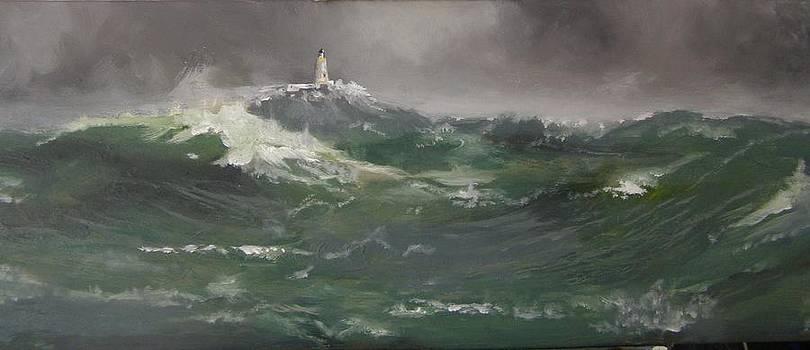 Muckle Flugga lighthouse Shetland by Eric Burgess-Ray