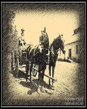 Mule Team in Sepia by Don Melton