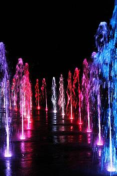 Multi-Colored Water Fountain by Alina Skye