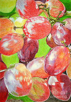 Multi Coloured Grapes by Yvonne Johnstone