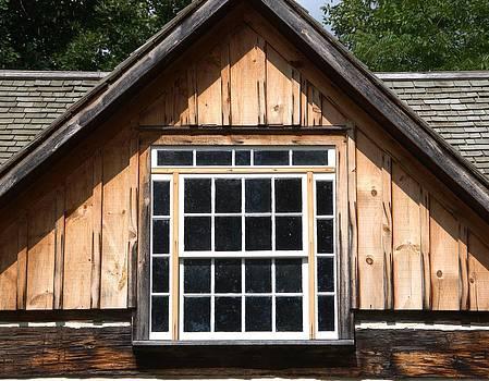 Valerie Kirkwood - Multi Paned Window in Log House Gable