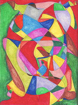 Multicolored Maze by Ellen Howell