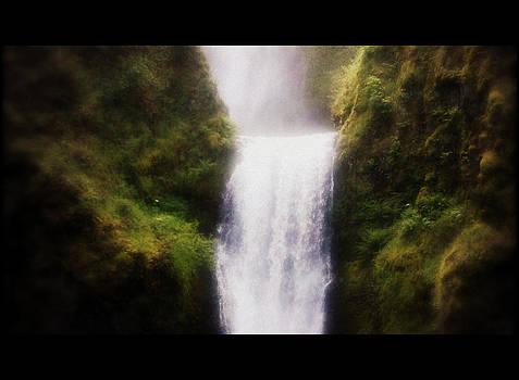 Multnomah Falls Cinema Scope by Heather L Wright