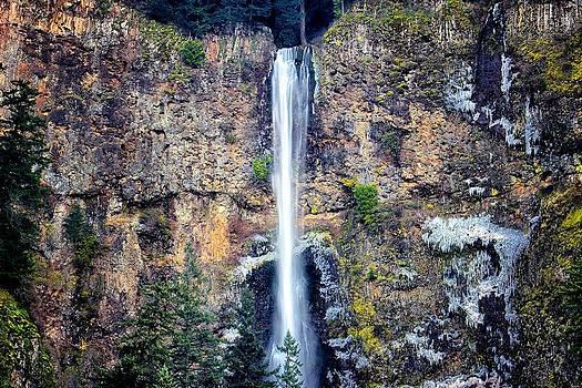 Multnomah Falls East of Portland OR by Michael Rogers