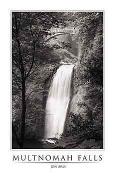 Multnomah Falls Poster by Jon Ares