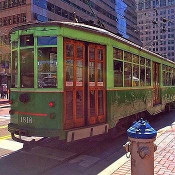 Muni Trolley In San Francisco by Karen Winokan
