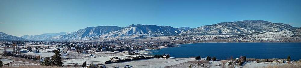 Guy Hoffman - Munson Mountain view of Penticton BC - Panorama 2-28-2014