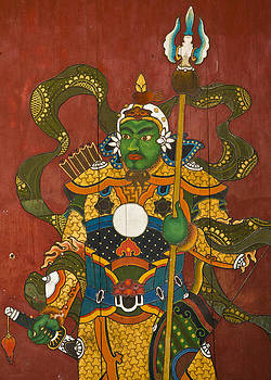 Colin Monteath - Mural Of Buddhist Guardian Ulan Baatar