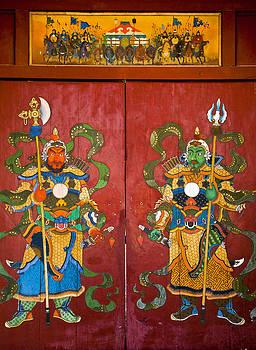 Colin Monteath - Mural Of Buddhist Guardians Ulan Baatar