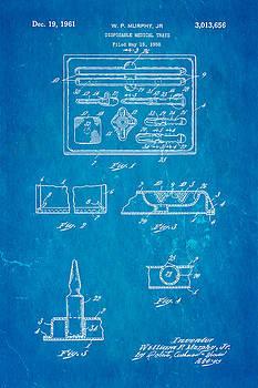 Ian Monk - Murphy Disposable Medical Tray Patent Art 1961 Blueprint
