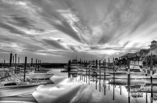 Mel Steinhauer - Murrells Inlet Sunset 2 BW