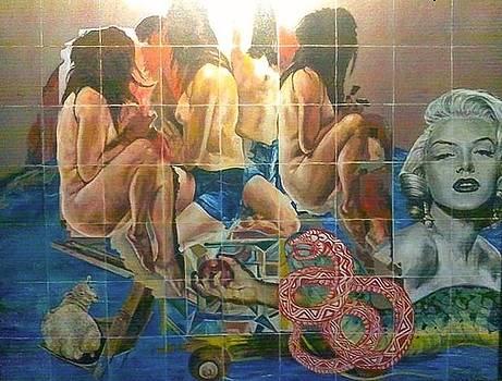 Muse Medusa Mermaid Meek Mediator of Men  Marilyn by Edwin Jumalon