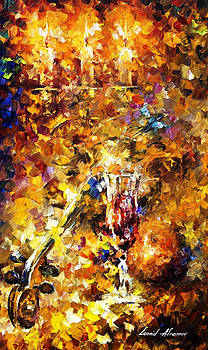 Music Of The Past - PALETTE KNIFE Oil Painting On Canvas By Leonid Afremov by Leonid Afremov