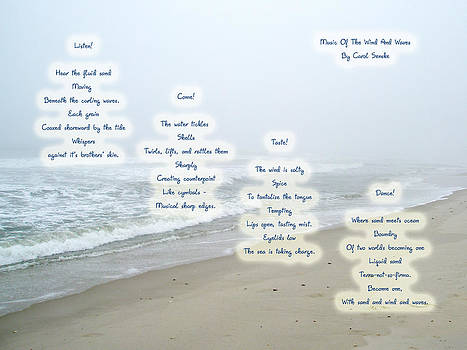 Mother Nature - Music Of The Wind And Waves Poem on Ocean Background