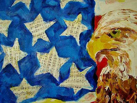 Musical Flag Stars by Kat Griffin
