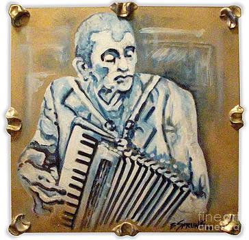 Musician En Bleu by Bonnie Sprung