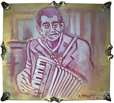 Musician En Rouge by Bonnie Sprung