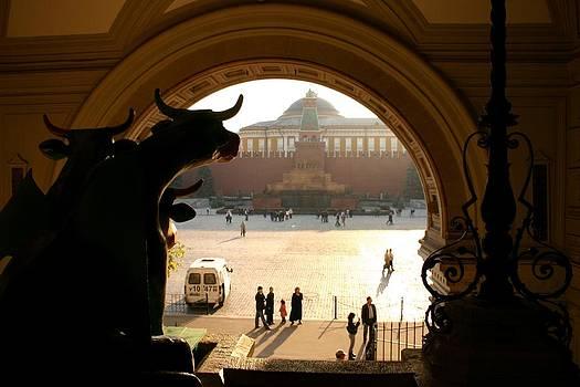 Muscovite bulls 2 by Juozas Mazonas