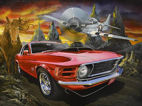 Mustangs 3 by Richard Mordecki