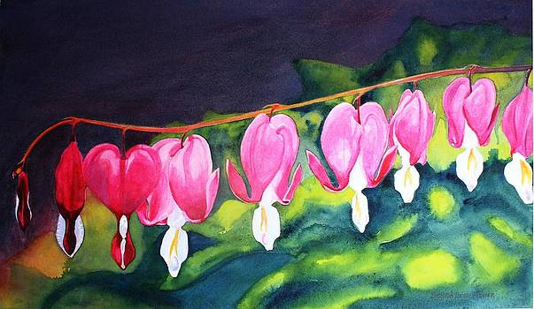 My Bleeding Hearts by Brenda Beck Fisher