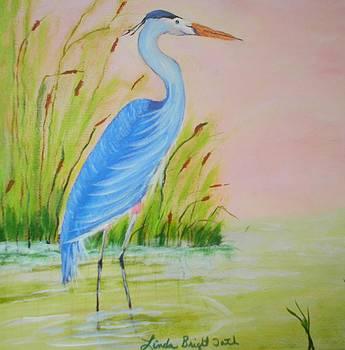 My Blue heron by Linda Bright Toth