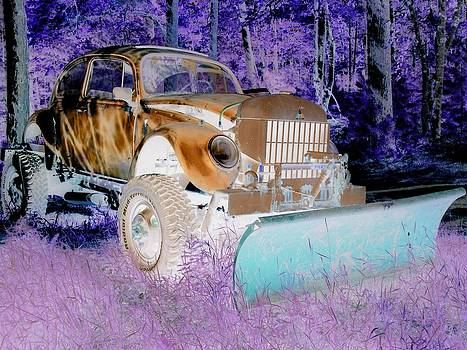 My Brother's Snowplow Color Inversion by Ron Holiday Broomell