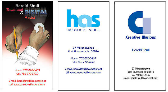My Business cards by Harold Shull