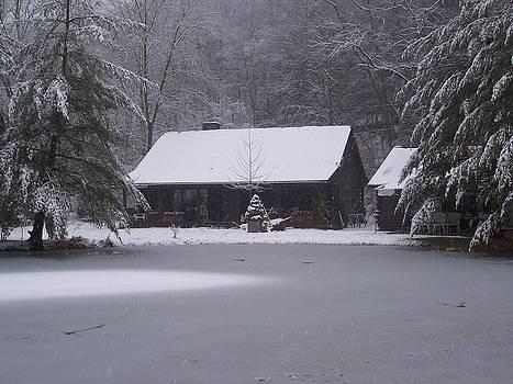 My Cabin in Winter by Brady Harness