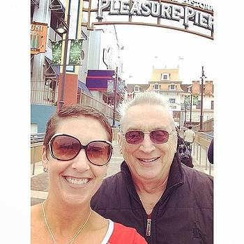 My Dad And Me At The #pleasurepier! by Ava Barbin-king