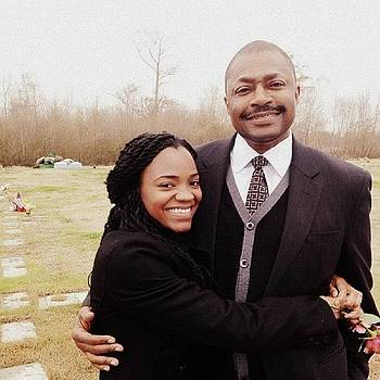 My Dad And Sis Attending The Funeral by Jeremiah Adams