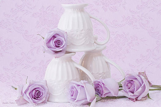 Sandra Foster - My Favorite Cream Lace Mugs