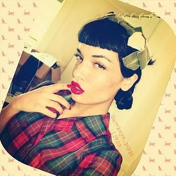 My Favorite #vintagehat & #vintagedress by Melissa Eve