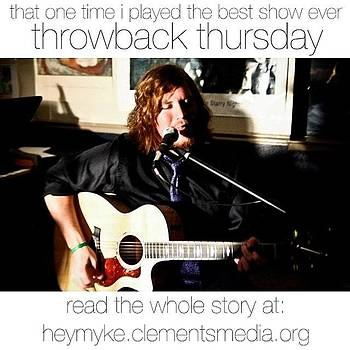 My First Ever #throwbackthursday Is by Mychal Clements