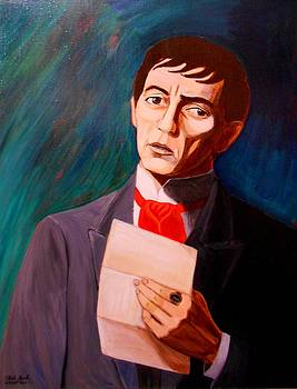 My Heart Swims Blind In A Sea That Stuns Me a portrait of Barnabas Collins by Patrick Lynch