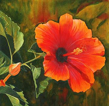 My Hibiscus  SOLD by Mary Ann Leake