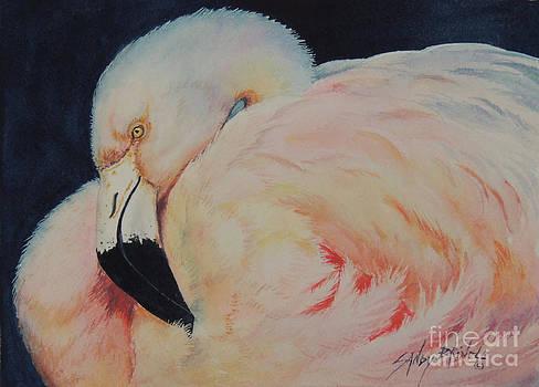 My Pink Flamingo...SOLD  by Sandy Brindle