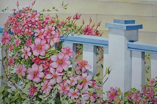 My Porch Railing by Mary Ellen Mueller Legault