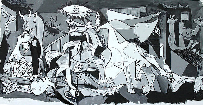 My Rendition of GUERNICA by Miguel Rodriguez