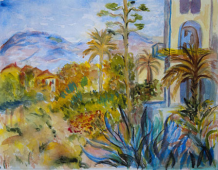 Donna Walsh - My Rendition of Villas at Bordighera